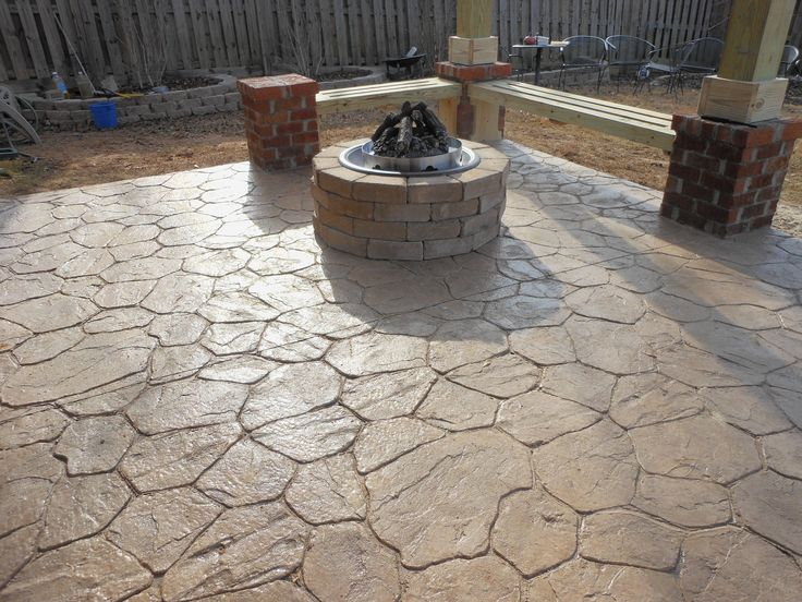 Check Out This Well Crafted Stamped Concrete Patio. Know Your Pattern  Options, CALL Today.