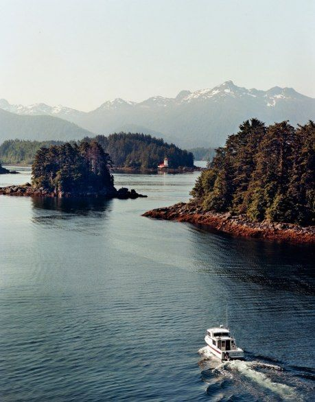 The city of Sitka, Alaska, can be reached only by ferry or airplane.