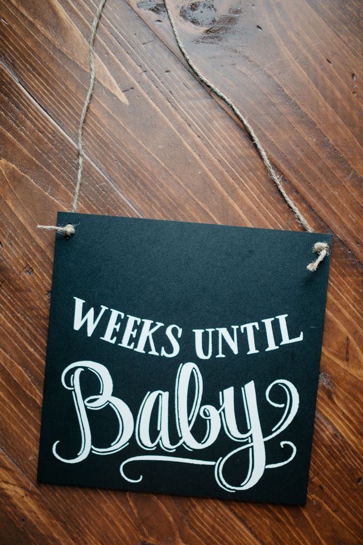 Slate the Date: The Countdown to Baby Chalkboard