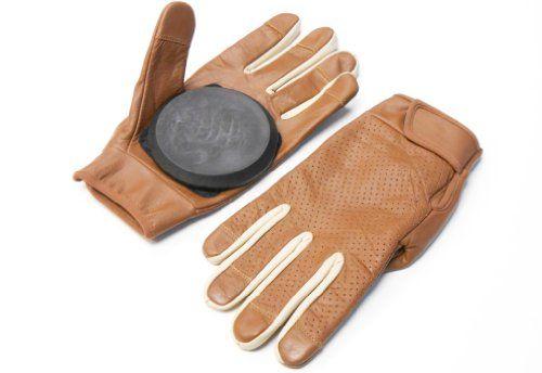 Quality Premium Leather Slide Gloves/Longboard Gloves/Freeride Gloves. Size Large