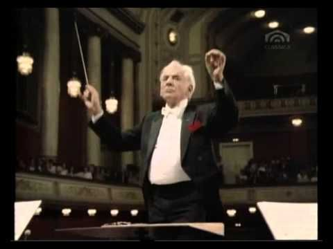 Jean Sibelius, Symphonie No. 5 Es Dur op 82 - [Conducted by Leonard Bernstein, Wiener Philharmoniker].  Considered by many to be Sibelius' greatest work.