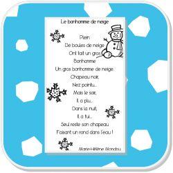 Poésie Le Bonhomme de neige: Poeme