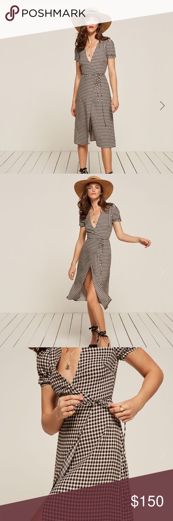 Reformation Addy Dress Reformation Addy Dress in checker print. Brand new condition! Reformation Dresses Midi