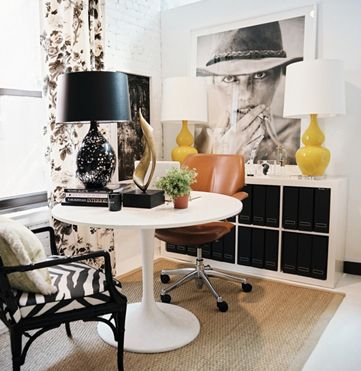 The Everygirl's 10 Favorite Ikea Finds: Interior, Idea, Offices, Black And White, Home Office, Design, Room