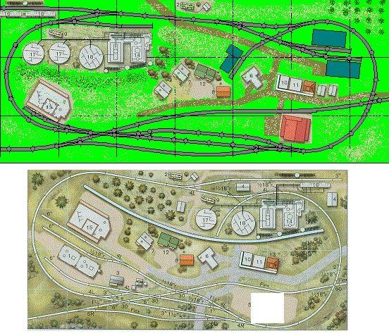 N Gauge Model Train Track Plans