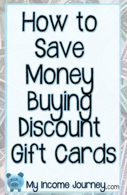 How to save money buying discount gift cards. These websites let you buy and sell gift cards at discounted rates. Great way to save money!! http://www.myincomejourney.com/how-to-save-money-buying-discount-gift-cards/