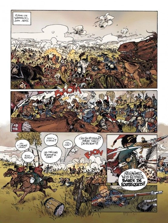 Le Vétéran  T1 par Gilles Mezzomo et Frank Giroud Septembre 1815. À lhôpital du Val de Grâce le capitaine du septième Hussard Maxime Danjou se remet de la terrible blessure à la tête reçue au cours de la bataille de Waterloo qui a sonné la fin des Cent Jours et de lespoir de retour aux affaires de Napoléon. Migraines cauchemars pertes de mémoire violentes colères sont quelques-uns des troubles que ressent lancien soldat qui a servi lEmpereur tout au long de son épopée. Le sien ayant disparu…