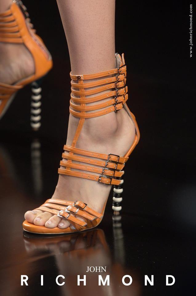 Shoes speak louder than words! John Richmond SS 2014  #JohnRichmondOfficial #shoes #fashion #womenswear #color #orange #glam #spring #summer
