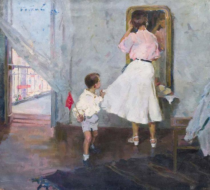 Божий Михаил Михайлович (1911 – 1990) «Мама, парад уже начался!», 1958 г.