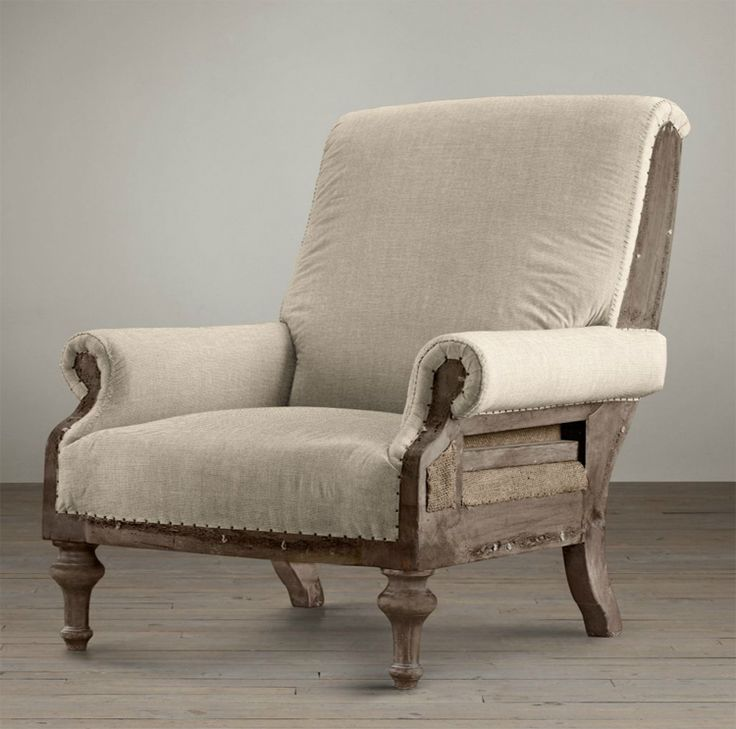 linen with nails wing back chair | 12 Awesome Décor Ideas For a Headstart on the Steampunk Trend