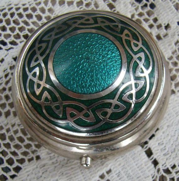 Silver Toned Kangaroo Pendant Oval Trinket Jewelry Box