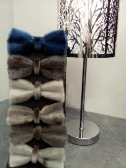 Sealskin bow ties