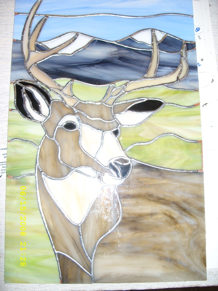 17 best images about stained glass   elk    u0026 deer on