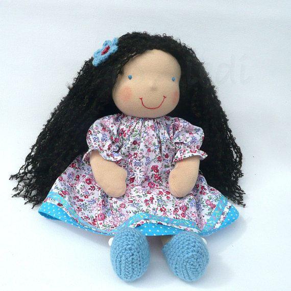 16 curly hair Waldorf doll READY TO SHIP Custom doll