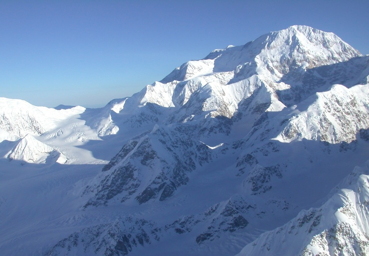 Mt. McKinley, I am lucky to have flown directly over on a clear day, although this is not my pic