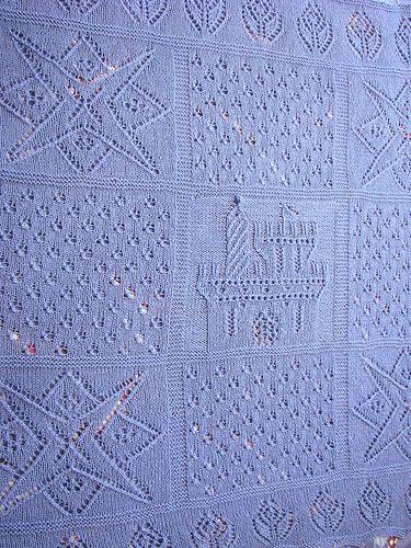Baby manta Padrões de confecção de malhas   No Loop Knitting