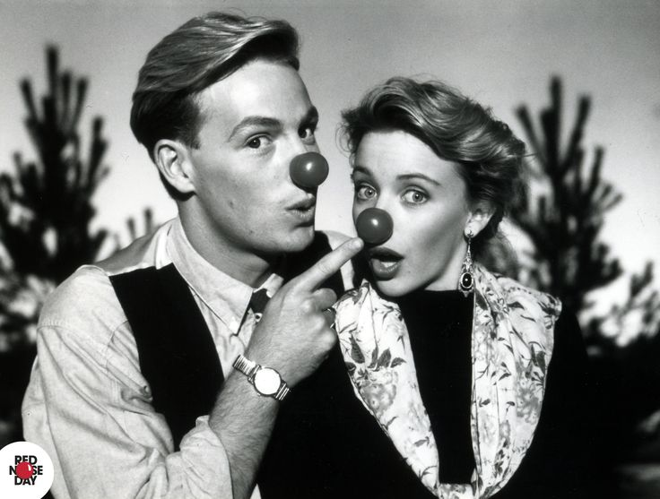 At the height of their Neighbours fame, Jason Donovan and Kylie Minogue reunite especially for Red Nose Day 1989.