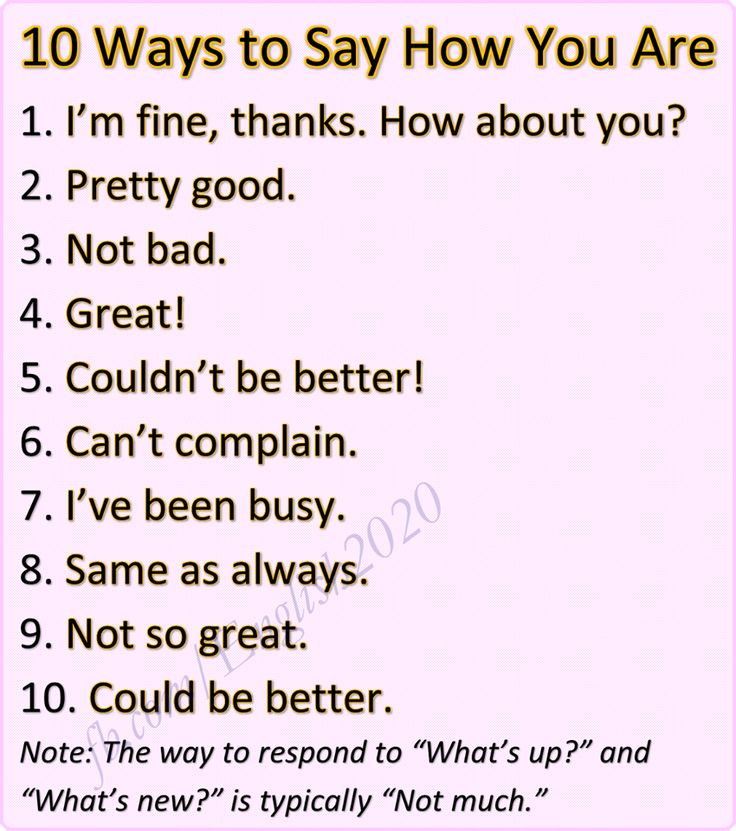 Forum   ________ Learn English   Fluent Land10 Ways to Say How are You   Fluent…