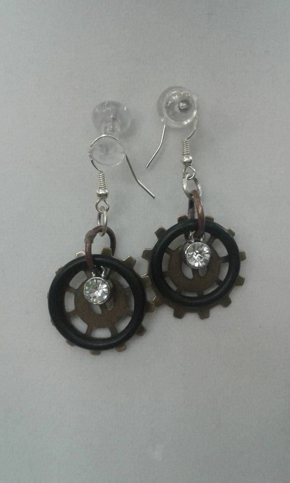 Check out this item in my Etsy shop https://www.etsy.com/listing/491066237/fun-steam-punk-industrial-look-earrings