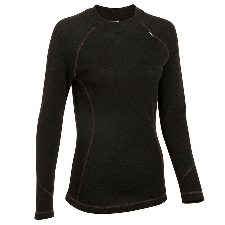 £4.99 - Base layers - Simple Warm Top Black - Women's Ski Base Layer - WED'ZE