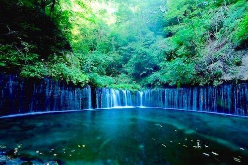 白糸の滝 軽井沢 Shiraito no taki, Karuizawa, Nagano, Japan