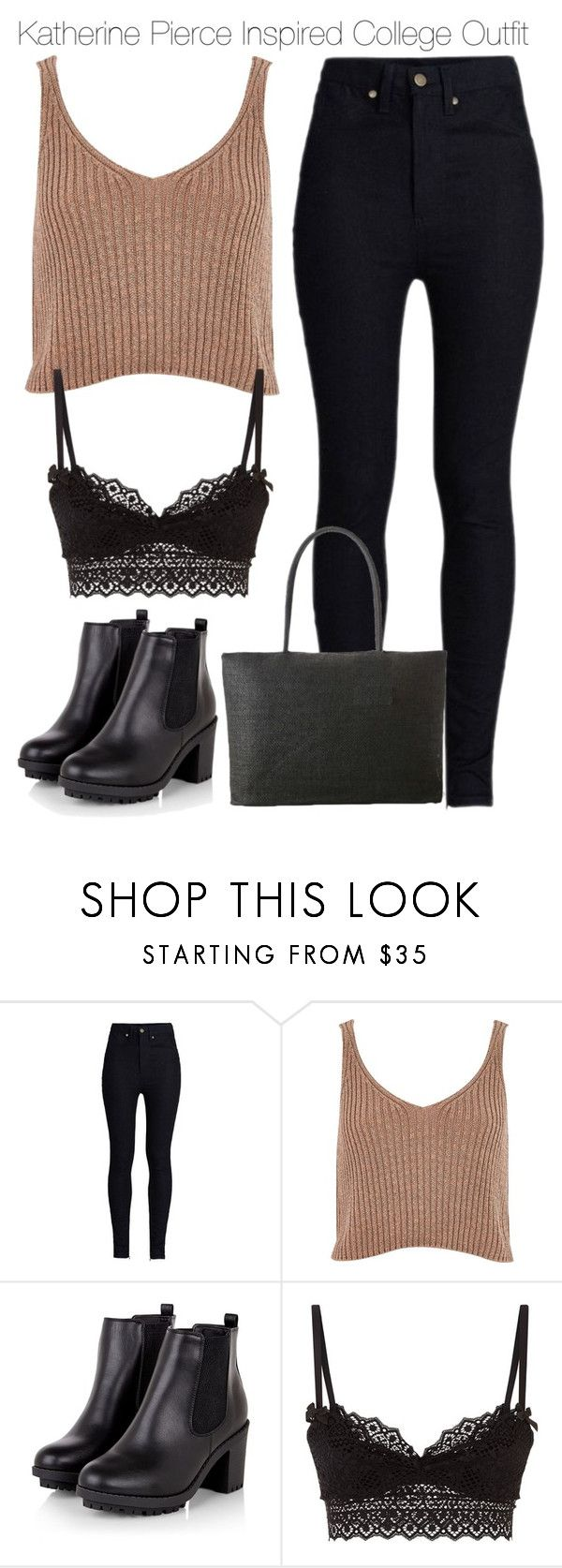 """""""Katherine Pierce Inspired College Outfit"""" by nathj ❤ liked on Polyvore featuring Rodarte, River Island, Agent Provocateur, college, tvd and KatherinePierce"""