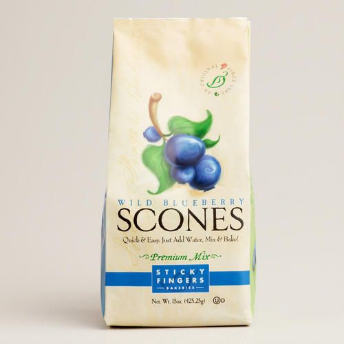 One of my favorite discoveries at WorldMarket.com: Sticky Fingers Wild Blueberry Scones Mix
