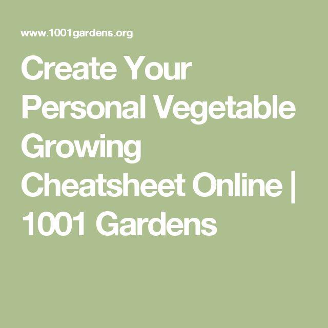 Create Your Personal Vegetable Growing Cheatsheet Online   1001 Gardens