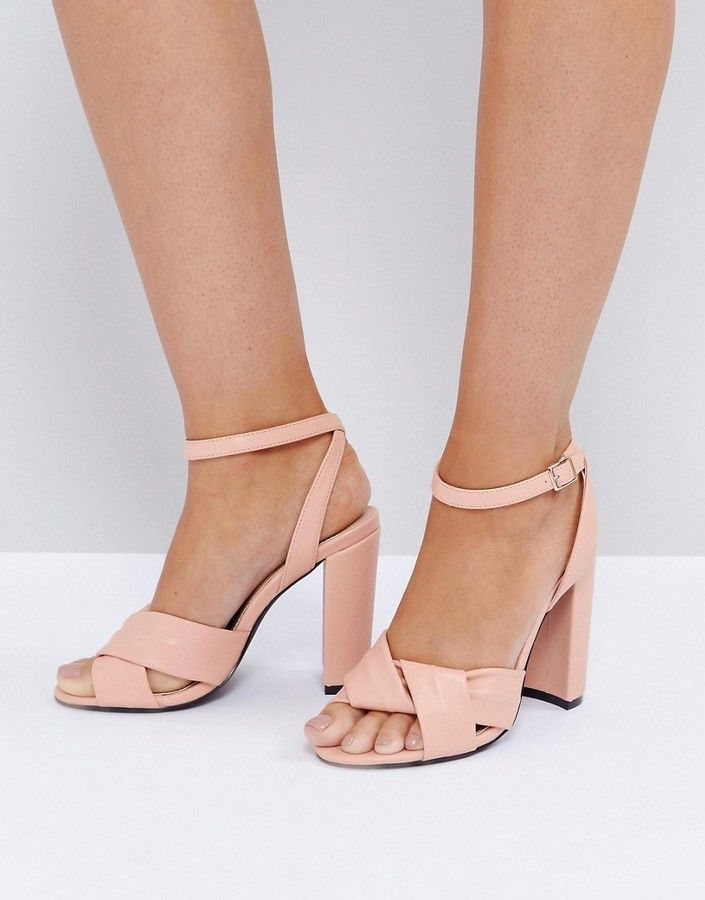 02db7b10d911f The March Twist Front Dusky Pink Block Heeled Sandals