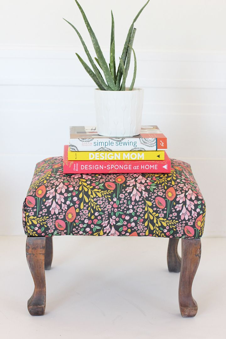 DIY Reupholstered Stool & Best 25+ Upholstered stool ideas on Pinterest | Weather bar Stool ... islam-shia.org