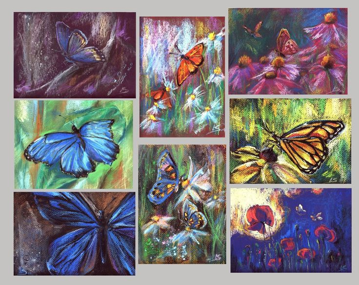 Original Pastel Painting: Be my butterfly by LS