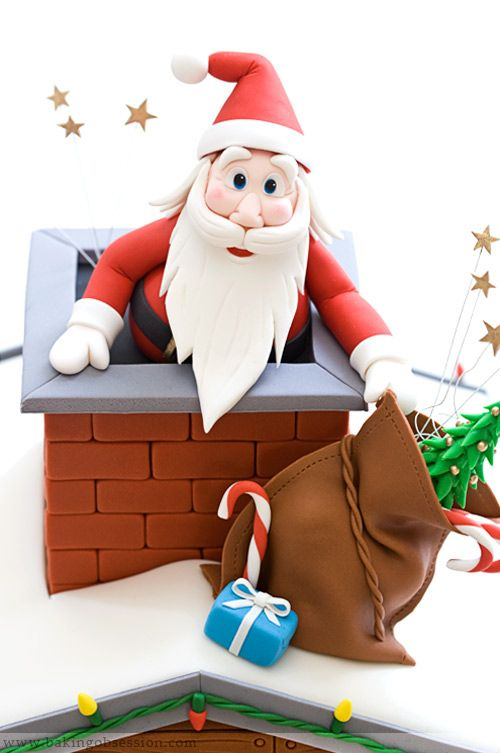 Santa Cake Tutorial - For all your cake decorating ...