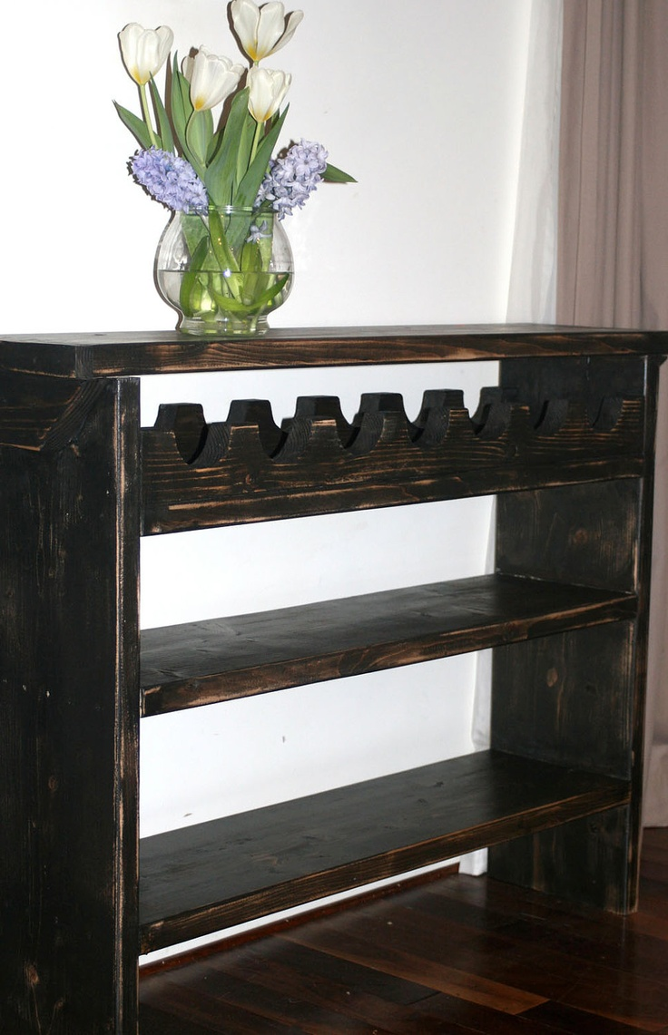 Fabulous bar / wine stand / Beverage stand / Table with wine rack. $229.00, via Etsy.