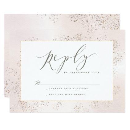 #BLUSH TUCH REPLY CARD - #weddinginvitations #wedding #invitations #party #card #cards #invitation #watercolor