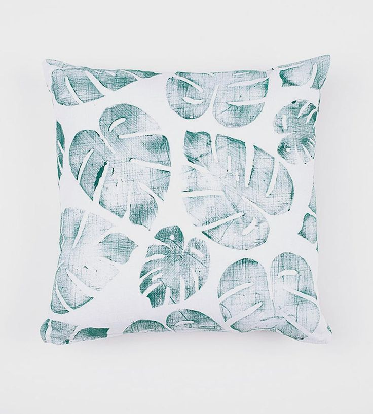 Tropical Leaf Pillow Cover by Confetti Riot on Scoutmob Shoppe