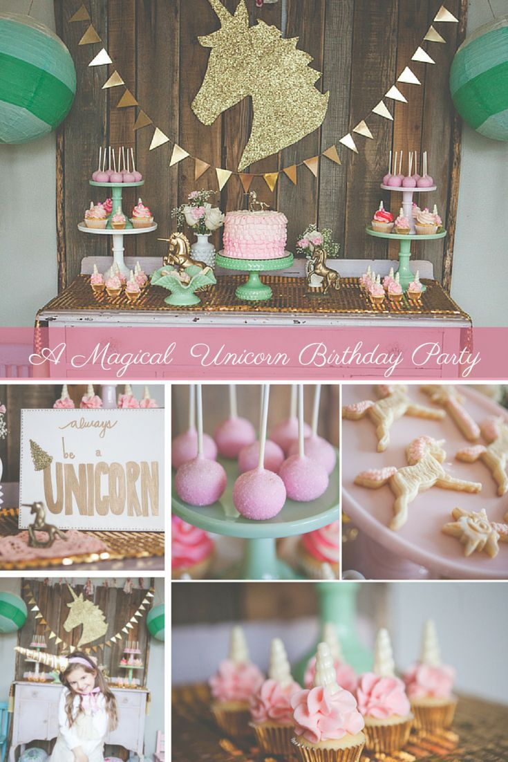 From the adorable desserts to the glittery DIY crafts, this unicorn birthday party will delight the imagination in any little dreamer!
