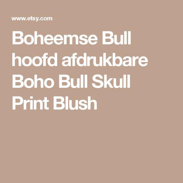 Boheemse Bull hoofd afdrukbare Boho Bull Skull Print Blush