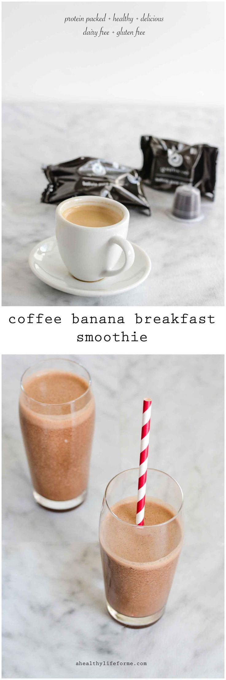Coffee Banana Breakfast Smoothie - A Healthy Life For Me