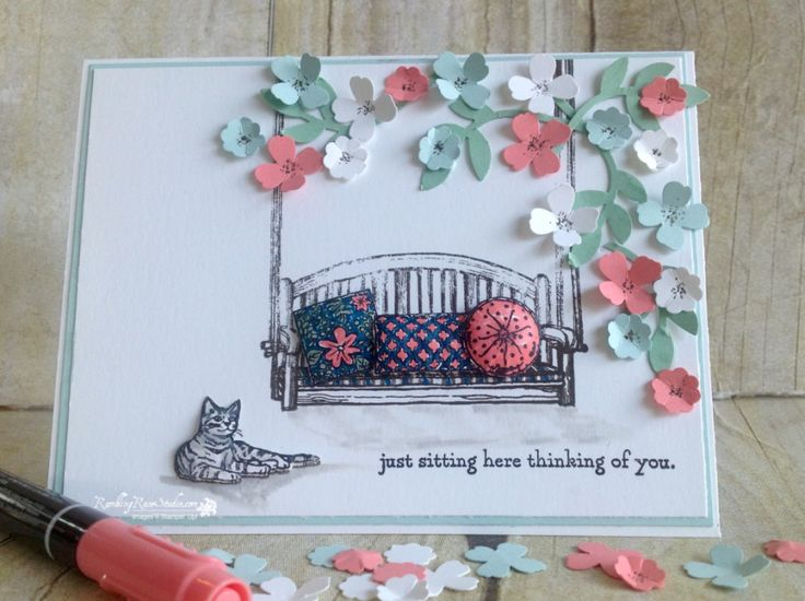 Stampin' Up! Sitting Here, Thinking of You... | Rambling Rose Studio | Billie Moan