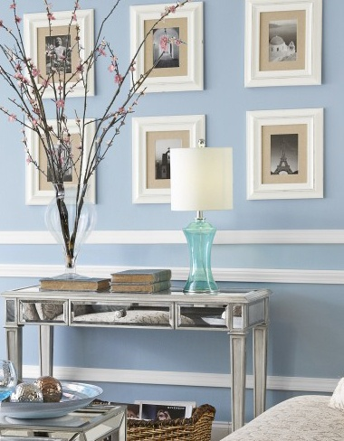 Pier One Photo Frames Displayed Evenly And Symmetrically Create A Clean Look