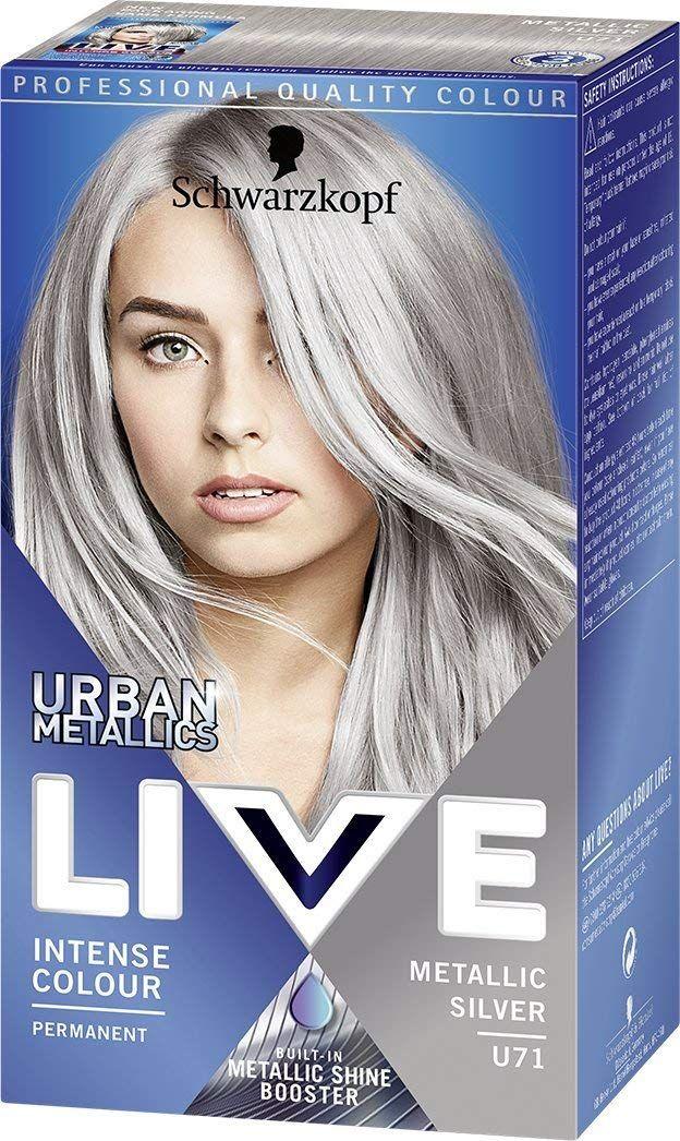 Schwarzkopf Urban Metallics Live Hair Colour U71 Metallic Silver
