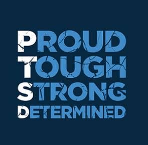 PTSD - Proud, Tough, Strong, Determined! Anyone with PTSD should have this, not just read it but live it!