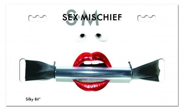 Sex & Mischief Silky Bit Gag Black Sex Toy Product
