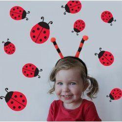 Little Boo-Teek - Decals and Stickers Speckled House Lady Beetles Wall Decal $32.95 www.littlebooteek.com.au #littlebooteekau #presents #kids #bedroom #playroom #decals #wallstickers