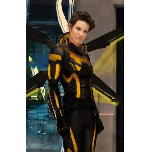 Yellow and Black Ant-Man And The Wasp Jacket - Black Leather Jacket ($220) ❤ liked on Polyvore featuring outerwear, jackets, real leather jackets, leather jackets, zipper jacket, leather zip jacket and 100 leather jacket
