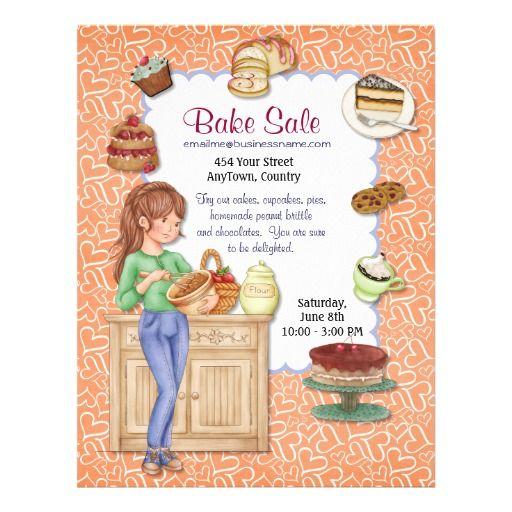 Oltre  Fantastiche Idee Su Bake Sale Flyer Su