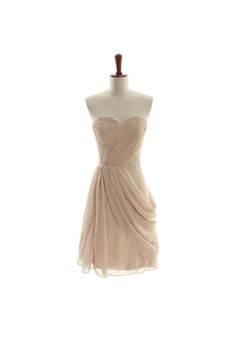 Lovely sweetheart chiffon bridesmaid gown