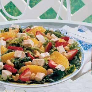 Strawberry-Orange Chicken Salad Recipe
