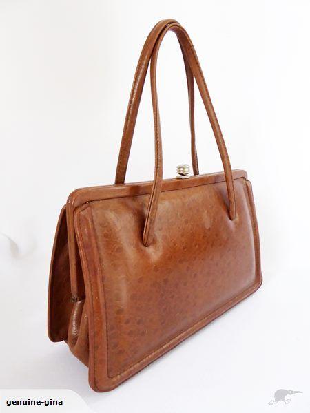 1950's genuine leather handbag