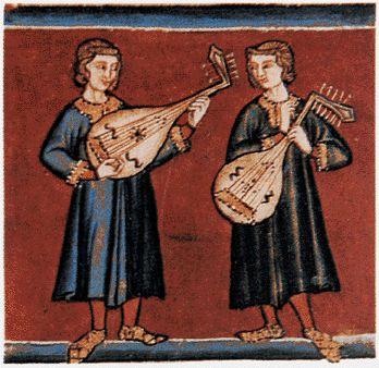 SPAIN / Medieval - Miniatura de las Cantigas de Santa María. El manuscrito escrito durante el reinado de Alfonso X el Sabio (siglo XIII), constituye una de las colecciones de canciones más importante de la literatura medieval occidental.